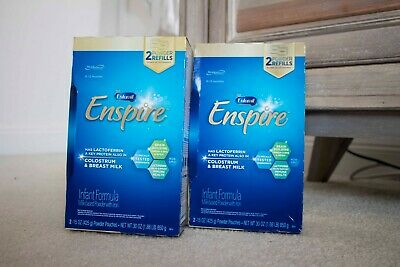 Enfamil Baby Formula Enspire - Two Boxes of 30oz Powder Refill Pouches