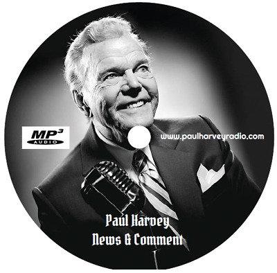 Paul Harvey - News & Comment 'J-Q' (769 Shows) Old Time Radio Mp3 Cd