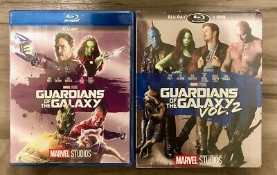 Guardians of the Galaxy and Guardians of the Galaxy Volume 2 Blu-ray Discs New