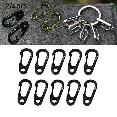 15x D Type Carabiner Spring Snap Hook Keychain Clip Outdoor Small Tools 4cm