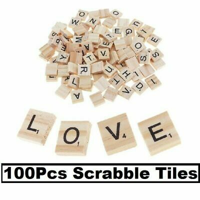 500 Scrabble Wood Tiles Pieces Full Sets 100 Letters Wooden Alphabet Game&Crafts