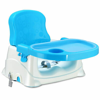 Comfort Folding Booster Seat 3 Height Adjustments Baby Toddlers With Safety Belt