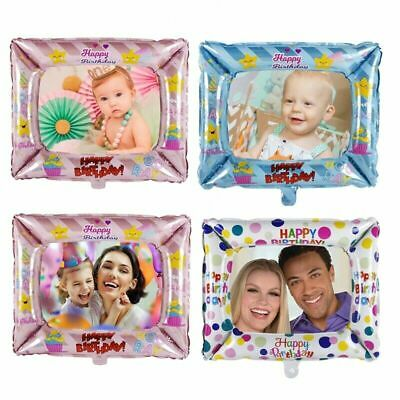 Inflatable FOIL Photo Frame Happy Birthday Balloon Party Props Decoration 3Pc