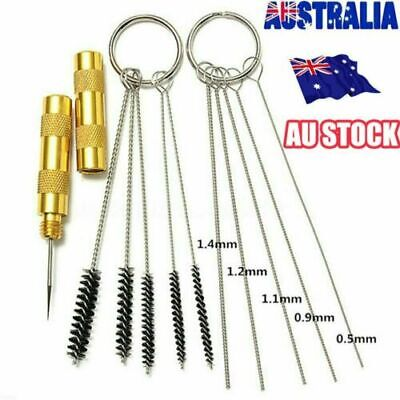 11PCS Airbrush Cleaning Needle & Brush Accessories Kit for Spray Gun Cleaner RK