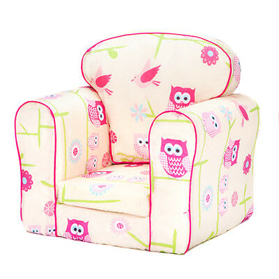 Owls Children Armchair Kids Mini Sofa Seat Removable Upholstered Cover Chair