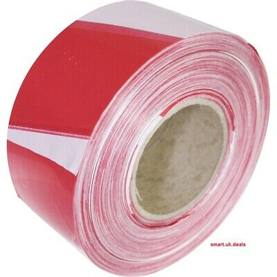 Red White Barrier Tape 70mm x 500 Warning Making Hazard Tapes Safety Cordon