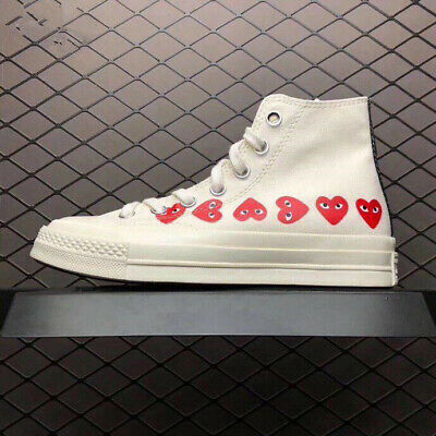Love Heart COMME DES PLAY Chuck Taylor x CONVERSE White / Black Big Eye