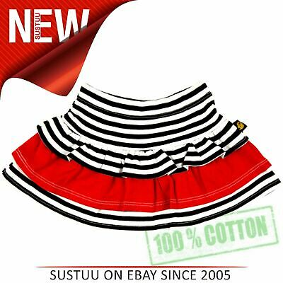 Rockabye Baby Rara Skirt Black and Red¦Super Soft 100% Cotton¦Washable¦For 3-6m