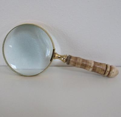 Grande Loupe, XXL Loupe , , Loupe, Aide Lecture Look Antique Laiton