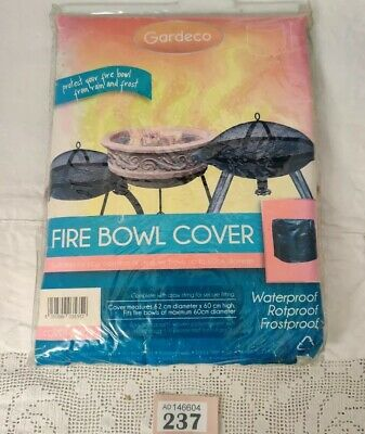Gardeco COVER-FB60 Fire Bowl/ Fire Pit Cover Upto 60cm Diameter - Green