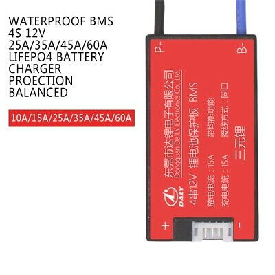 Waterproof BMS 4S 12V 25A/35A/45A/60A LiFePO4 Battery Charger Proection Balanced