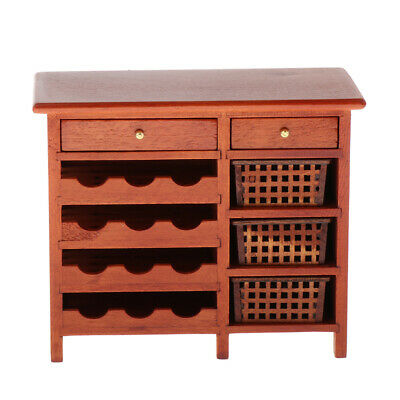 Dollhouse 1/12th Miniature Furniture Wine Cabinet Modern Living Room Decor