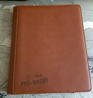 Ultra Pro Premium Binder A4 9-Pocket Trading Card , Brown Leather