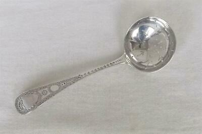 A Fine Antique Solid Sterling Silver Victorian Sugar Sifter Ladle London 1897.