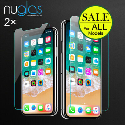2x Genuine NUGLAS Tempered Glass Screen Protector for New iPhone 11/11 Pro Max