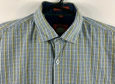 Superdry Men's Shirt 'The Grindle Sawn' Collared Long Sleeve Button Up Size XL