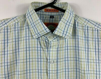 Superdry Men's Shirt 'The Grindle Sawn' Long Sleeve Button Up Size XL Made USA