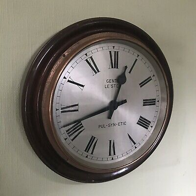 """Vintage Gents of Leicester 12"""" Clock - PUL-SYN-ETIC - Modern Electric Movement"""