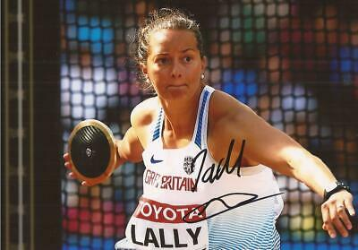 ATHLETICS* JADE LALLY SIGNED 6x4 LONDON 2017 ACTION PHOTO+COA *TEAM GB*