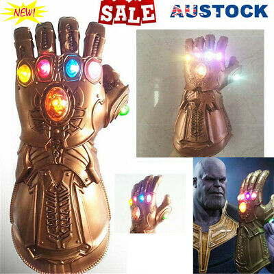 Avenge 3 Infinity War Infinity Gauntlet LED Cosplay Thanos Gloves With LED RK