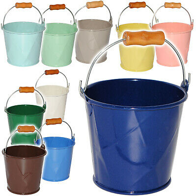 "Small XS - Metal Bucket - Mini - "" Colorful Farbmix "" - with 3-D Effect Diamond"