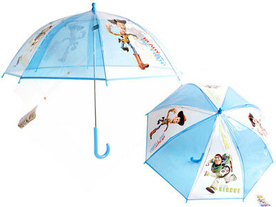 Toy Story: Buzz Lightyear & Woody Children's Bubble Dome Umbrella In Blue-Bnwt