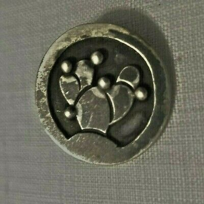 """Vtg Mexican Taxco Signed Sterling Silver Shank Buttons -Prickly Pear Motif -3/4"""""""