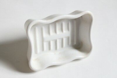 antique faucet soap holder dish tray | standard scallop sink porcelain soap vtg