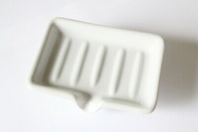antique faucet soap holder dish tray | sink porcelain victorian kitchen soap vtg