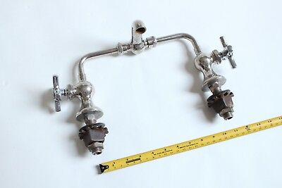 antique faucet bathroom sink | vtg mixer bridge faucet deco victorian plumbing