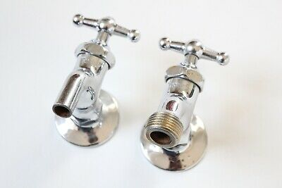 antique wall faucet bathroom kitchen sink | chrome vtg victorian deco bathroom