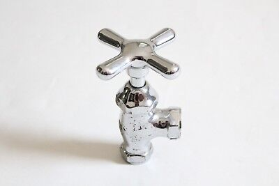 antique faucet shut off angle valve | vtg deco victorian bath plumbing cross