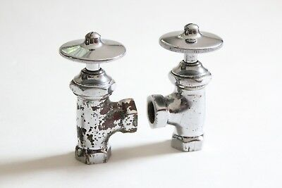 antique faucet wheel shut off angle valve | republic deco vtg victorian plumbing