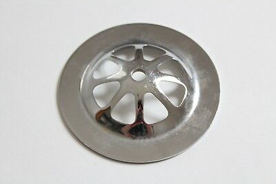 antique sink tub shower drain strainer | vtg victorian plumbing art deco chrome