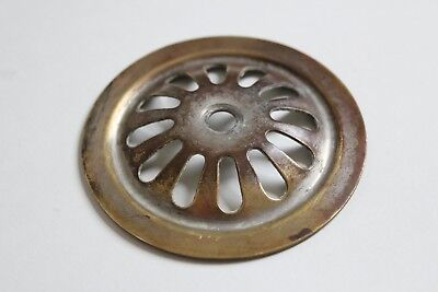 antique sink tub shower drain strainer | vtg victorian bathroom brass art deco