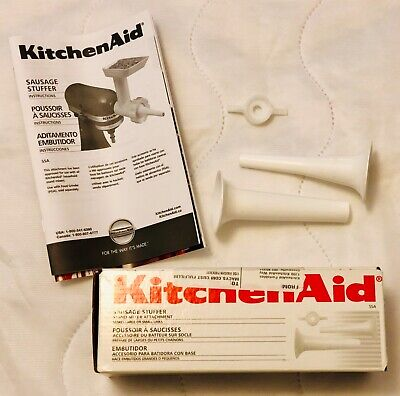 NEW KitchenAid Sausage Stuffer Stand Mixer Attachment Box and Instructions incl