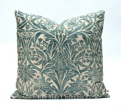 William Morris Luxury Snakeshead Red Fabric Vintage Designer Cushion PillowCover