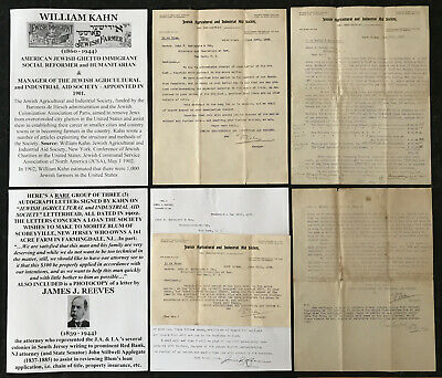 Jewish Ghetto Immigrant Social Reformer Agricultural Society Farm Letter Signed!
