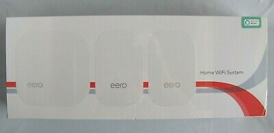 eero Home WiFi System 1 Base and 2 Beacons 2nd Generation M010301