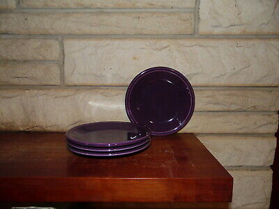 Fiesta 7 1/4 Salad Plate in Mulberry  set of 4  NEW Never Used Fiestaware