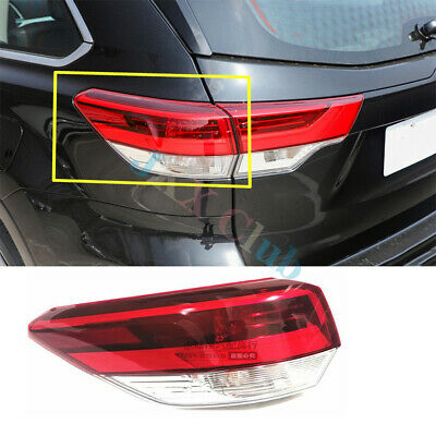 Fit For Toyota Highlander 2017-2019 Left Outer Rear Tail Light Brake Lamp o Assy