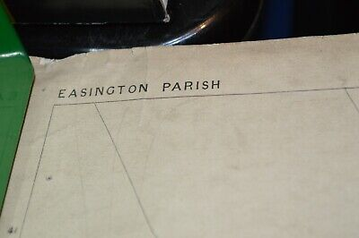 GEOLOGICAL ORDNANCE SURVEY MAP. of  EASINGTON  parish 1861 by Edward Stanford