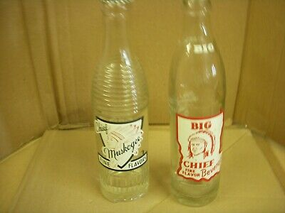 Old Antique Big Chief Muskogee Oklahoma Soda Pop Bottle Lot Coca-Cola Tallulam