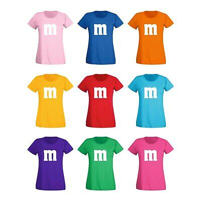 Camiseta M&M Schoko-Linse Gruppenkostüm Carnaval 15 Colores Mujer XS-3XL
