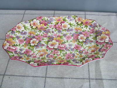 Vintage 1950's James Kent Chintz, Du Barry? Pattern 10 inch Floral Tray