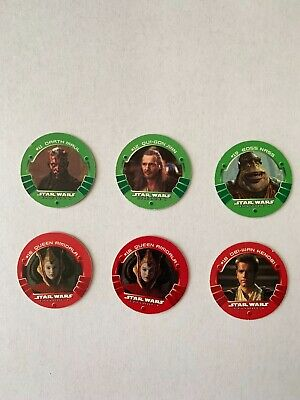 Star Wars Collectible Game Medallions Taco Bell/KFC/Pizza Hut #11,12, 15,16,18