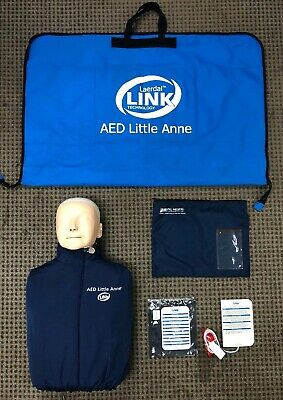 Laerdal Link Technologies AED Little Anne w/ Soft Pack Training Mat & Pads