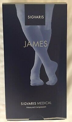 Sigvaris James Medical Compression Closed Toe Socks Black Size XL Long
