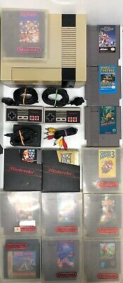 Nintendo Entertainment System NES-001 Deluxe Gray Video Game Console Bundle