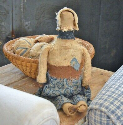 Primitive Handmade Folk-Art Doll